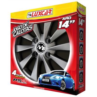 Calota RS2 Racing aro 14 unidade LuxCar jogo completo 4 peças FR