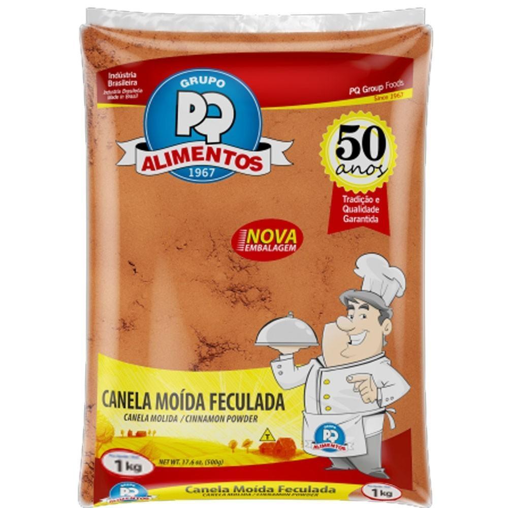 Canela moída 1kg PQ Alimentos pacote PCT