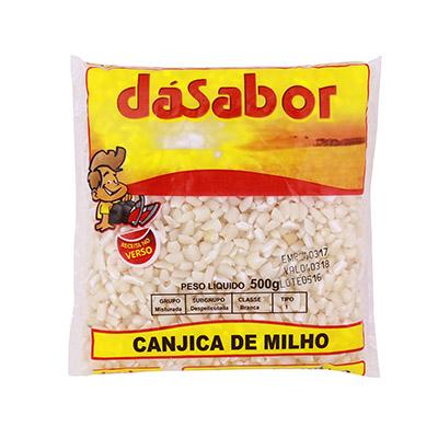 Canjica de milho 500g DáSabor pacote PCT