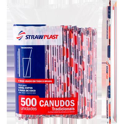 Canudo descartável embalado para refrigerante 500 unidades Strawplast pacote PCT