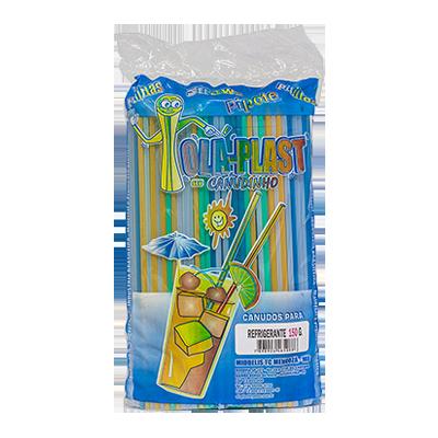 Canudo descartável para refrigerante 545 unidades Olla Plast pacote PCT