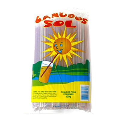 Canudo descartável para vitamina 270 unidades Sol pacote PCT