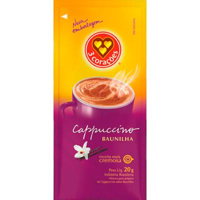 Cappuccino baunilha unidades de 20g 3 Corações em sachês UN