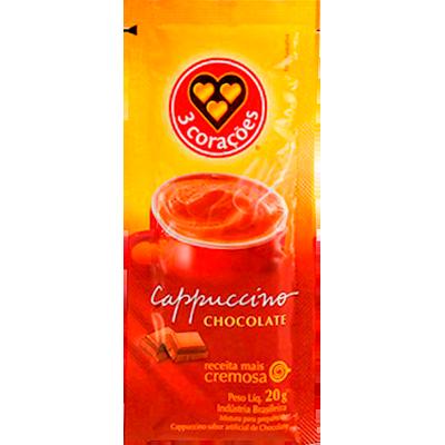 Cappuccino chocolate unidades de 20g 3 Corações em sachês UN