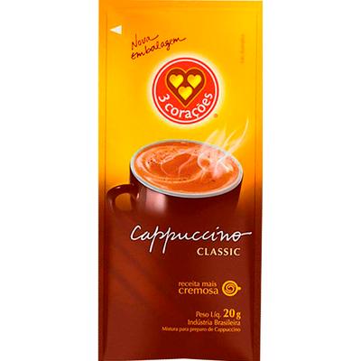 Cappuccino  unidades de 20g 3 Corações em sachês UN