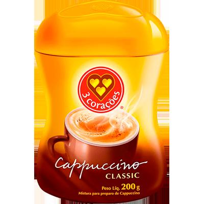 Cappuccino  200g 3 Corações/Classic pote POTE
