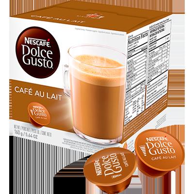 Cápsulas de Café Café au Lait 16 unidades de 10g Dolce Gusto/Nescafé caixa CX