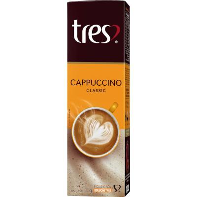Cápsulas de Café Cappuccino 10 unidades de 11g 3 Corações caixa CX