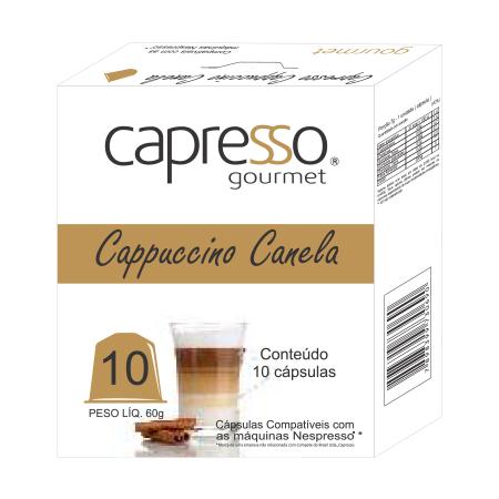 Cápsulas de Café cappuccino canela para máquina nespresso 10 unidades de 6g Capresso Gourmet caixa CX