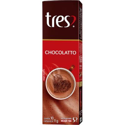 Cápsulas de Café chocolatto 10 unidades de 11g 3 Corações caixa CX