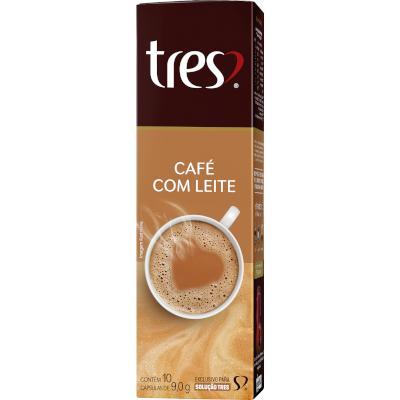 Cápsulas de Café com Leite 10 unidades de 9g 3 Corações caixa CX