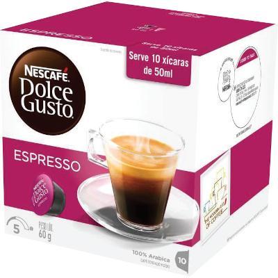 Cápsulas de Café Espresso 10 unidades de 6g Dolce Gusto/Nescafé caixa CX