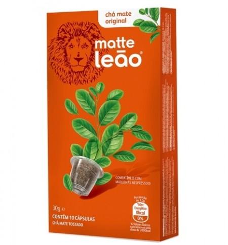 Cápsulas de Chá sabor Natural 10 unidades de 3g Leão/Matte caixa CX