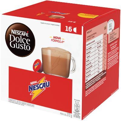 Cápsulas de Chocolate Nescau 272g Dolce Gusto/Nescafé caixa CX