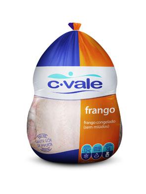 Carcaça de Frango congelado sem miúdos por Kg C. Vale  KG