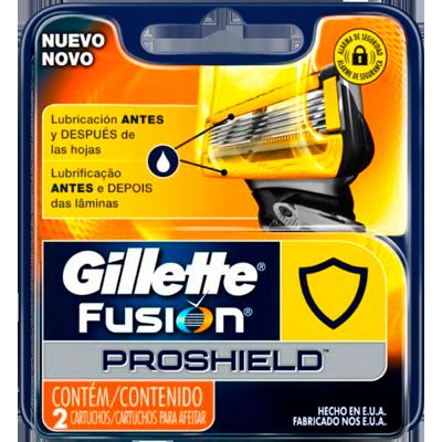Carga para Aparelho de Barbear Proshield 2 unidades Gillette/Fusion embalagem UN