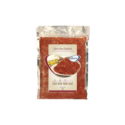 Carne Seca Desfiada Congelada 1Kg Alfama pacote PCT