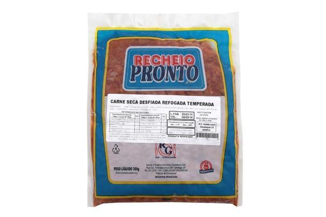 Carne Seca refogada e temperada 300g RG pacote PCT