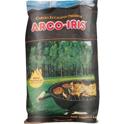 Carvão Vegetal Premium 4kg Arco - Iris saco UN