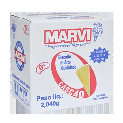 Casquinha de sorvete cascão 120 unidades Marvi caixa CX