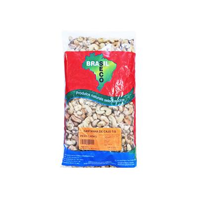 Castanha de Cajú Torrada e Salgada 1kg Brasilseco pacote PCT