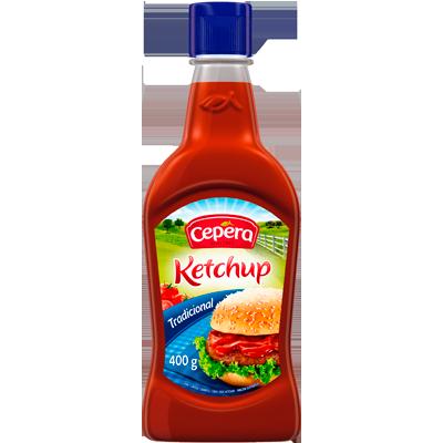 Ketchup Tradicional 400g Cepêra frasco UN