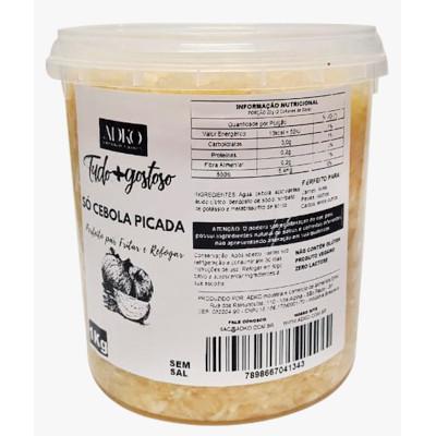 Cebola picada  1kg Tudo+Gostoso pacote PCT