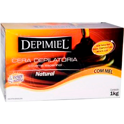 Cera Depilatória natural 1kg Depimiel  UN