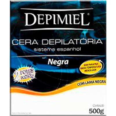 Cera Depilatória negra 500g Depimiel  UN