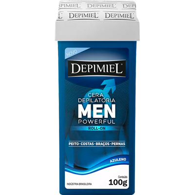 Cera Depilatória roll-on men powerful 100g Depimiel  UN