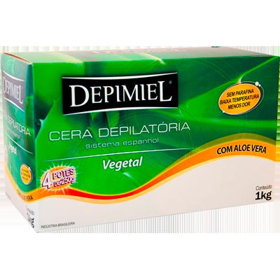 Cera Depilatória vegetal 1kg Depimiel  UN