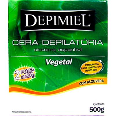 Cera Depilatória vegetal 500g Depimiel  UN