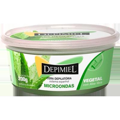 Cera Depilatória vegetal para microondas 200g Depimiel  UN