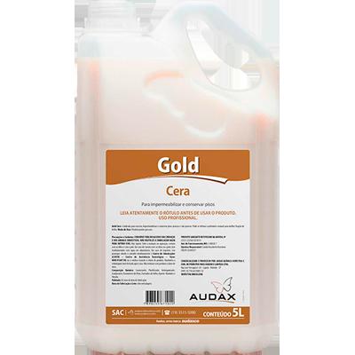 Cera líquida auto brilho incolor 5Litros Audax Gold galão GL