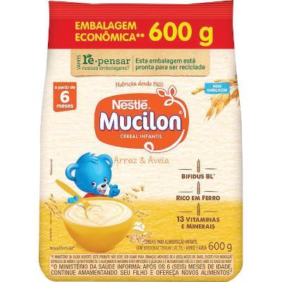 Cereal Infantil sabor arroz e aveia 600g Mucilon pacote UN