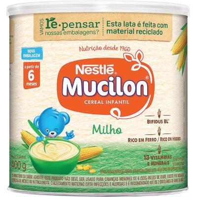Cereal Infantil sabor milho 400g Mucilon lata UN