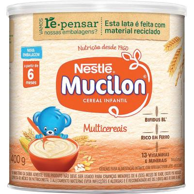 Cereal Infantil sabor multicereais 400g Mucilon lata UN