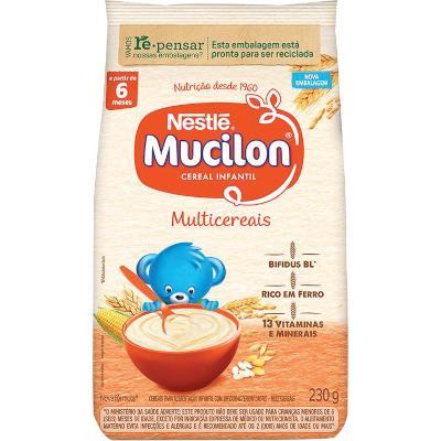 Cereal Infantil sabor multicereais 230g Mucilon pacote UN