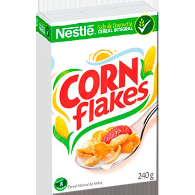 Cereal Matinal de flocos de milho sem açúcar 240g Corn Flakes/Nestlé pacote UN