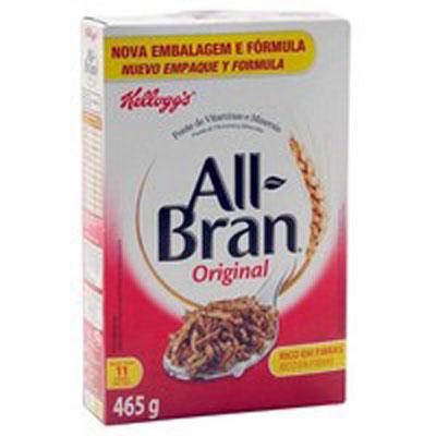 Cereal Matinal de flocos de trigo integral com uva passa 465g All Bran pacote UN