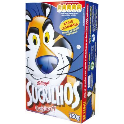 Cereal Matinal Flocos de Milho com Açúcar 730g Kellogg's/Sucrilhos Caixa UN