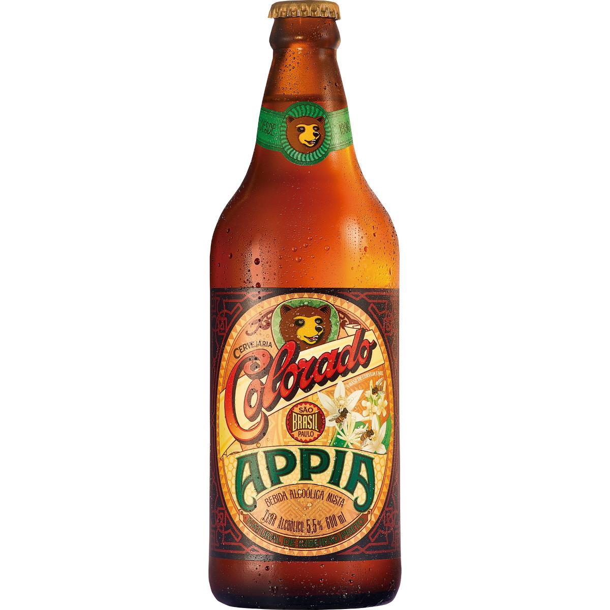 Cerveja appia 600ml Colorado garrafa não retornável UN