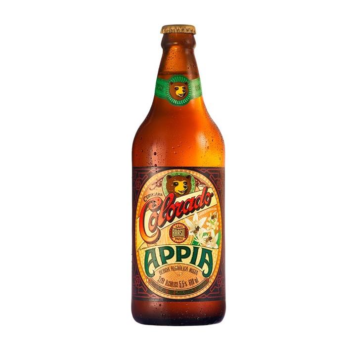 Cerveja appia (venc. 24/08) 600ml Colorado garrafa não retornável UN