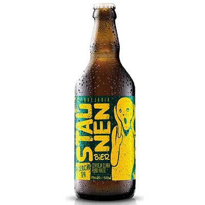 Cerveja artesanal American IPA 500ml Staunen Bier garrafa não retornável UN
