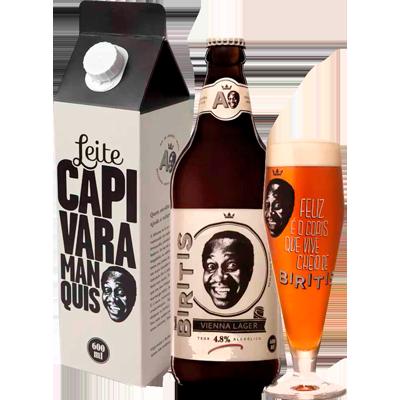 Cerveja artesanal  1 garrafa 600ml + 1 copo Birits  UN