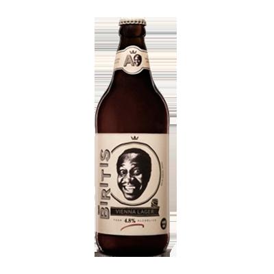 Cerveja artesanal Biritis Vienna Lager 600ml Ampolis garrafa não retornável UN