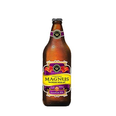 Cerveja artesanal Magnus Ipa 600ml Quinta Do Malte garrafa não retornável UN