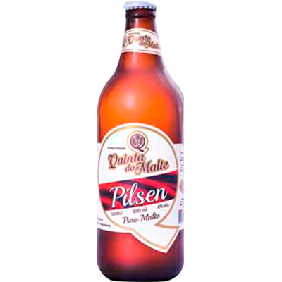 Cerveja artesanal Magnus Pilsen 600ml Quinta Do Malte garrafa não retornável UN