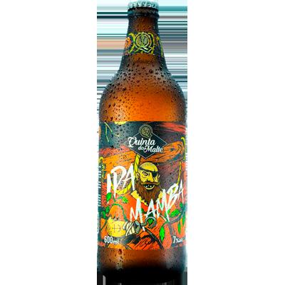Cerveja artesanal Mamba Ipa 600ml Quinta Do Malte garrafa não retornável UN