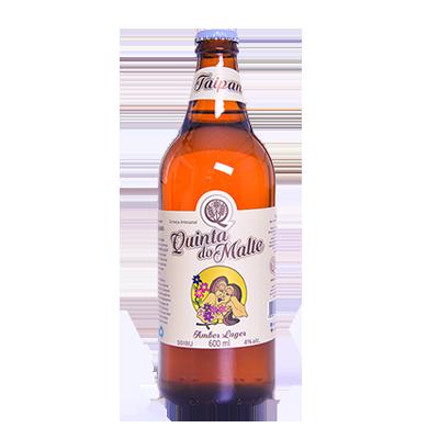 Cerveja artesanal Taipan Amber Lager 600ml Quinta Do Malte garrafa não retornável UN